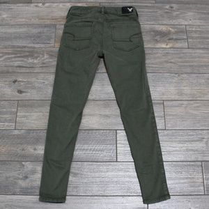 American Eagle Green Hi-Rise Jegging Jeans 0 Short